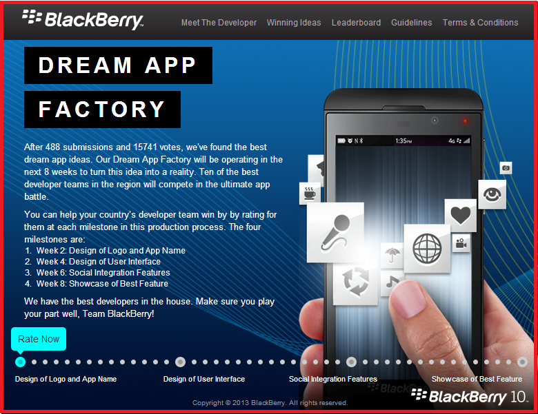 BlackBerry Dream App Factory