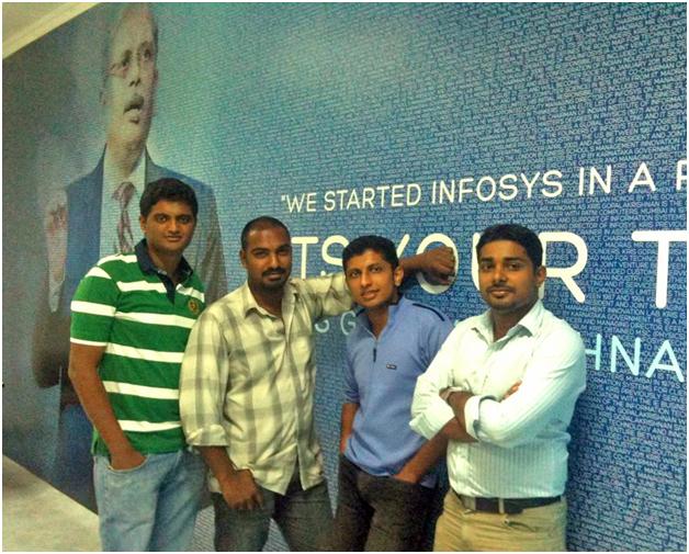Profoundis Founders. L-R: Jofin, Nithin, Arjun, Anoop