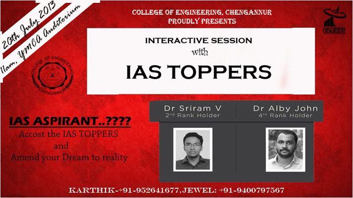 Civil Service 2012 Toppers at CEC | Dr. Sriram V and Dr. Alby John